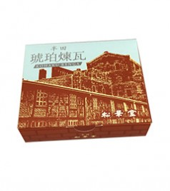 松華堂 干菓子箱(琥珀煉瓦)